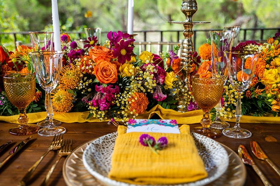mesa de boda decorada